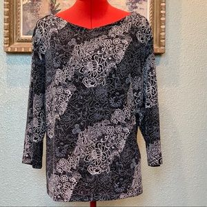 AGB Woman Navy blue and white sparkle top size 3X
